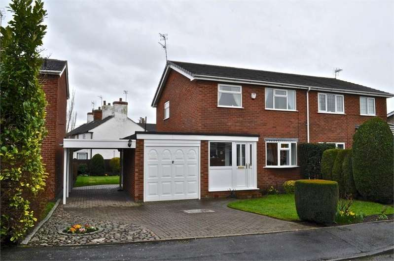3 Bedrooms Semi Detached House for sale in Village Close, Lostock Green, Northwich, Cheshire