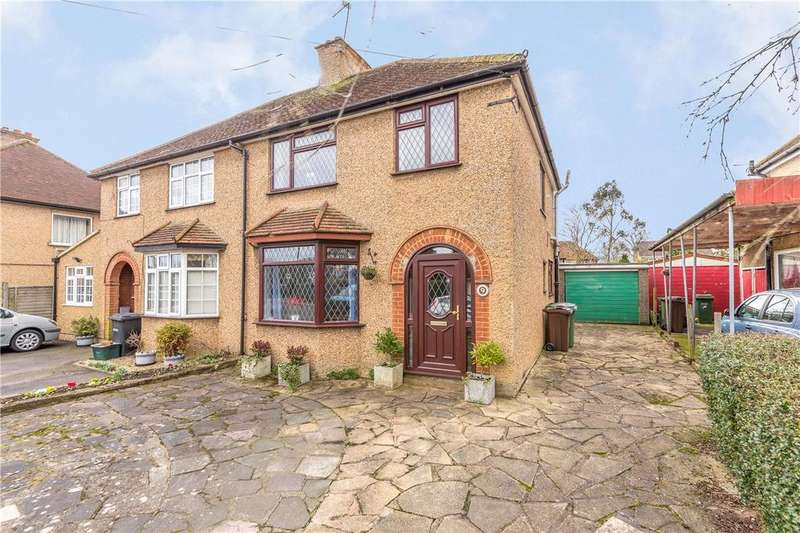 3 Bedrooms Semi Detached House for sale in Burston Drive, Park Street, St. Albans, Hertfordshire