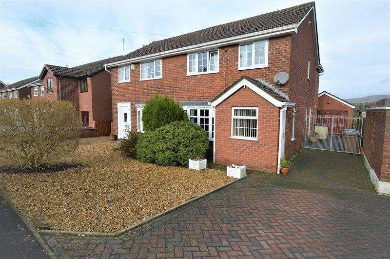 3 Bedrooms Semi Detached House for sale in Garden Way, Littleborough