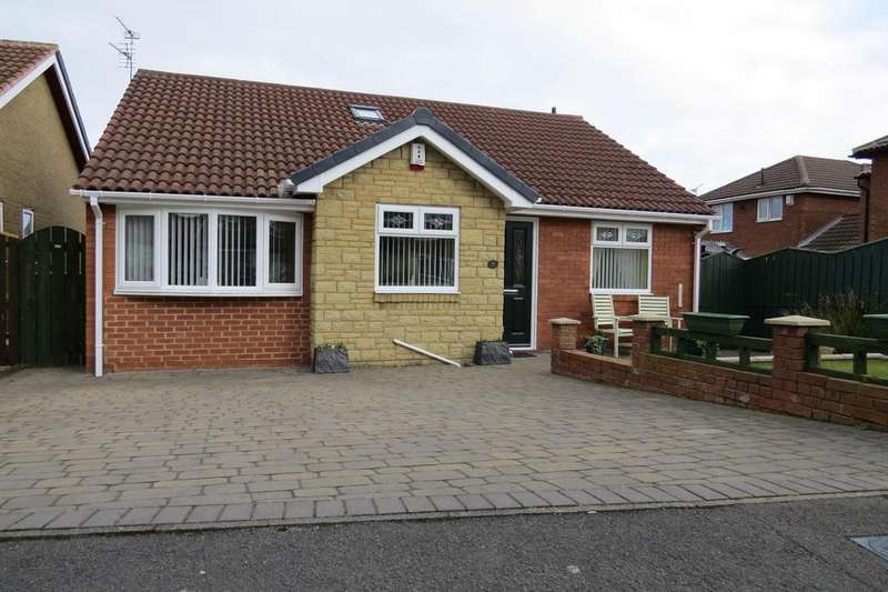 2 Bedrooms Detached Bungalow for sale in Magpie Court, Fallowfield, Ashington