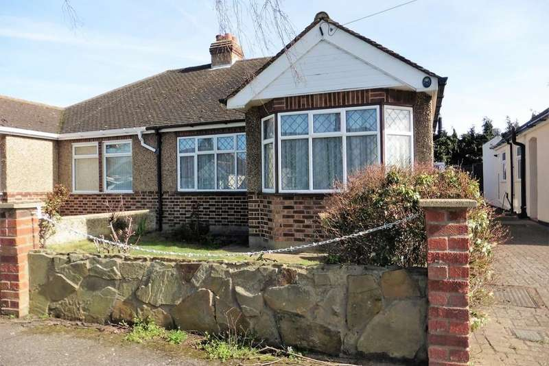 2 Bedrooms Semi Detached Bungalow for sale in Burleigh Gardens, Ashford, TW15