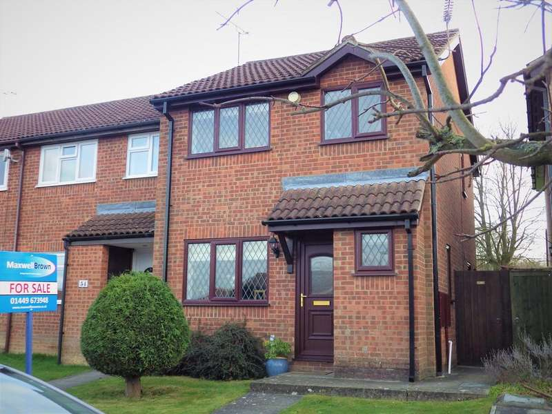 3 Bedrooms End Of Terrace House for sale in Lavenham Way, stowmarket IP14