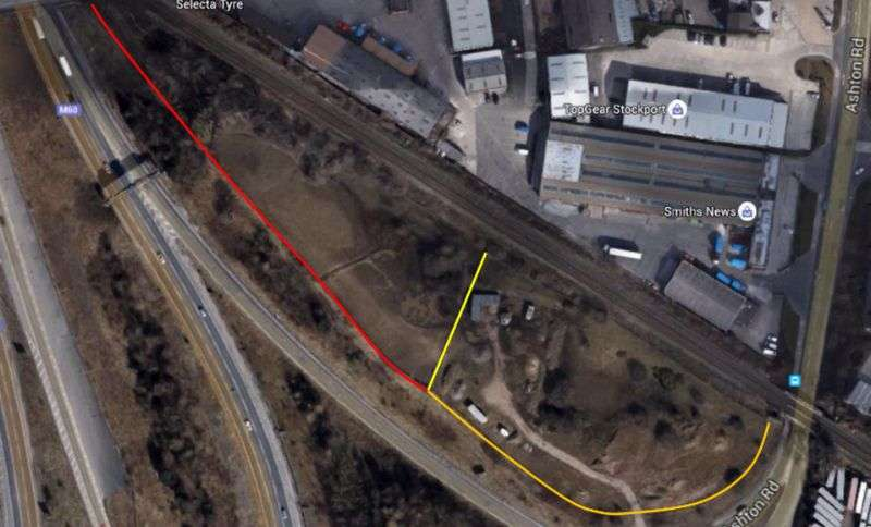 Property for sale in 3-4 acre plot of land, Bredbury Interchange