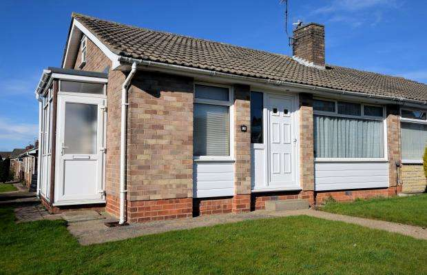 2 Bedrooms Semi Detached Bungalow for sale in Osgodby Way, Osgoby, Scarborough, North Yorkshire YO11 3JL