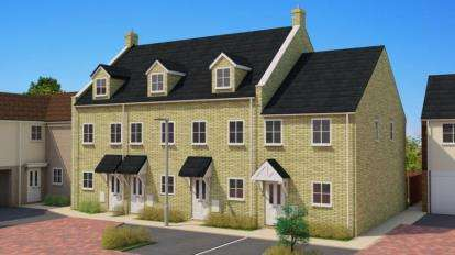 3 Bedrooms Town House for sale in Wittel Close, Windmill Street, Whittlesey, Cambridgeshire