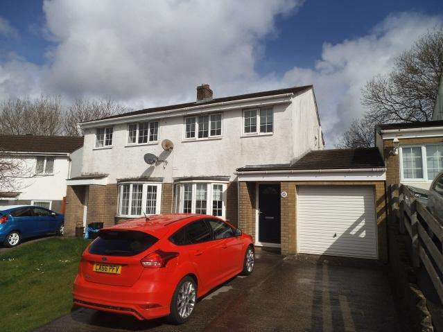 3 Bedrooms Semi Detached House for sale in Highfields, Brackla, Bridgend CF31