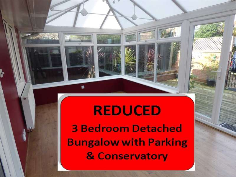 3 Bedrooms Detached Bungalow for sale in 250k+ SUPERB DETACHED BUNGALOW WITH 3 BEDS & CONSERVATORY - BOURNEMOUTH