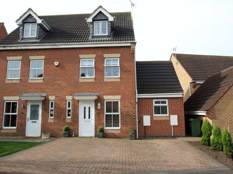 4 Bedrooms Semi Detached House for sale in Melody Drive, Sileby