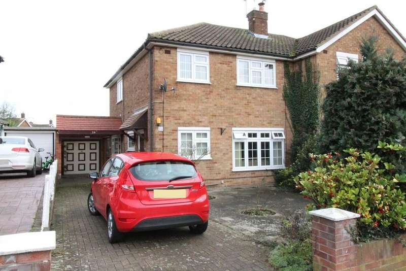 3 Bedrooms Semi Detached House for sale in Humber Drive, Upminster, Essex, RM14