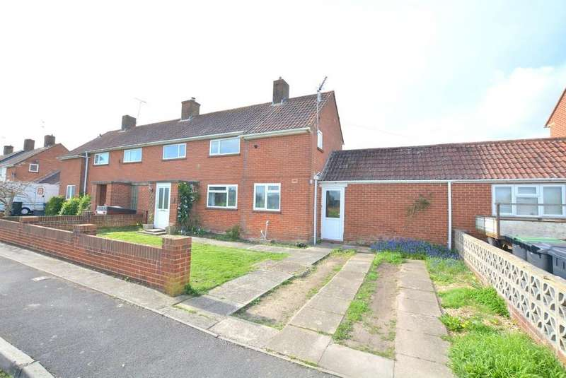 3 Bedrooms Semi Detached House for sale in Churchill Close, Sturminster Marshall