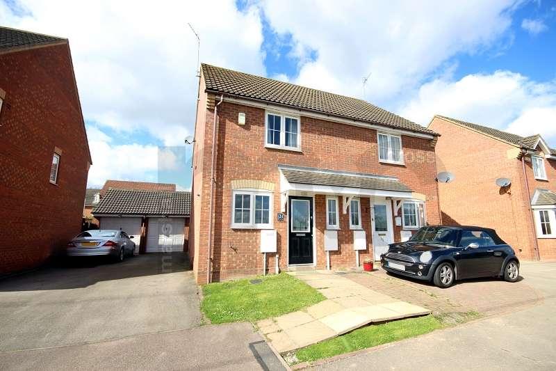 2 Bedrooms Semi Detached House for sale in Randall Close, Irthlingborough, Wellingborough, Northamptonshire. NN9 5HE