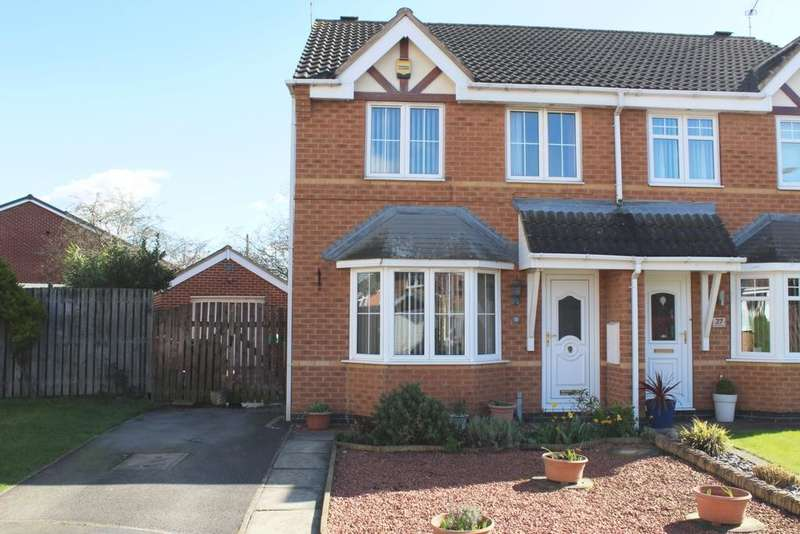 3 Bedrooms Semi Detached House for sale in Springwood Close, Branton, DN3