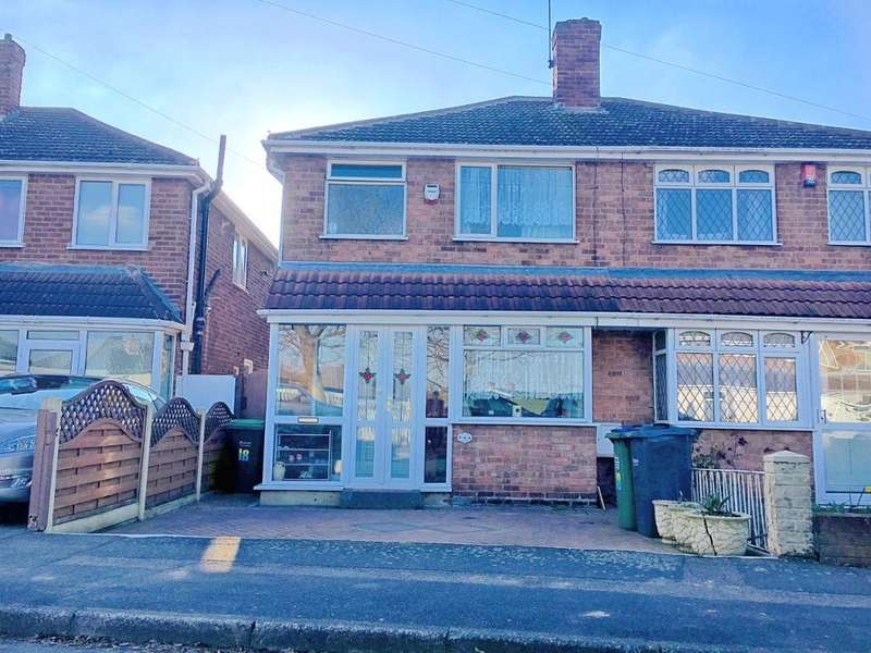 3 Bedrooms Semi Detached House for sale in LEACROFT GROVE, WEST BROMWICH, WEST MIDLANDS, B71 2QP