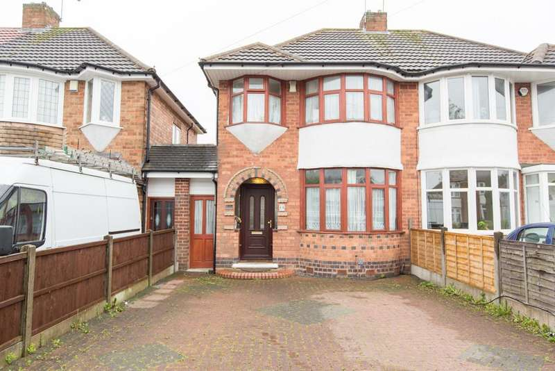 3 Bedrooms Semi Detached House for sale in Wellsford Avenue, Olton, Solihull