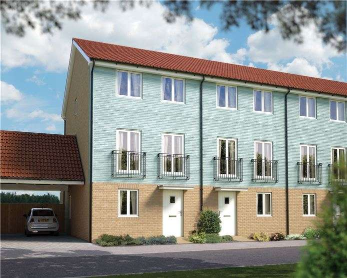 4 Bedrooms Town House for sale in The Harrogate, Plot 39 Morris Gardens, Fordham Road, Soham