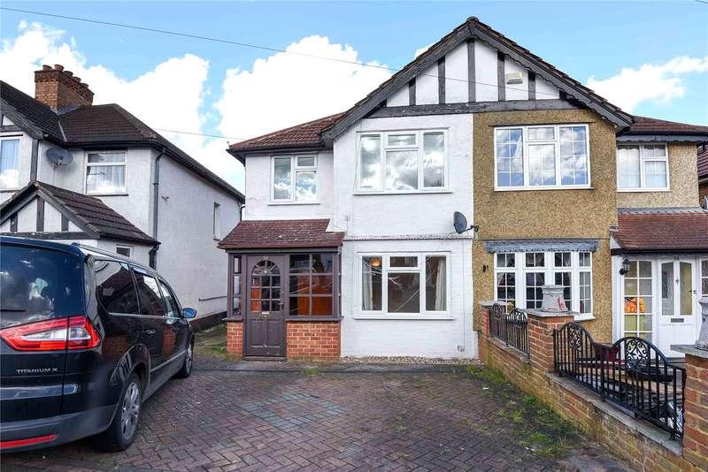 3 Bedrooms Semi Detached House for sale in Misbourne Road, Uxbridge, Middlesex, UB10