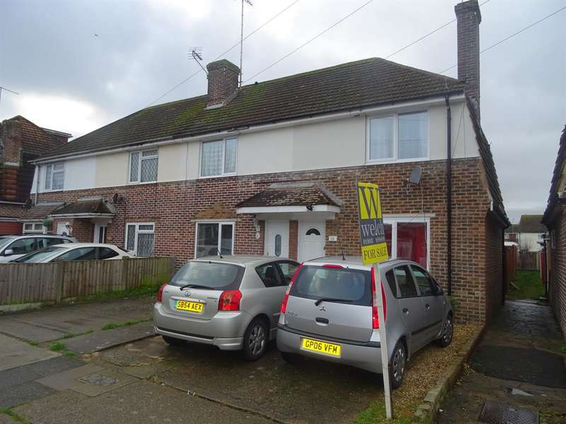 2 Bedrooms End Of Terrace House for sale in Conbar Avenue, Rustington, West Sussex, BN16 3LY