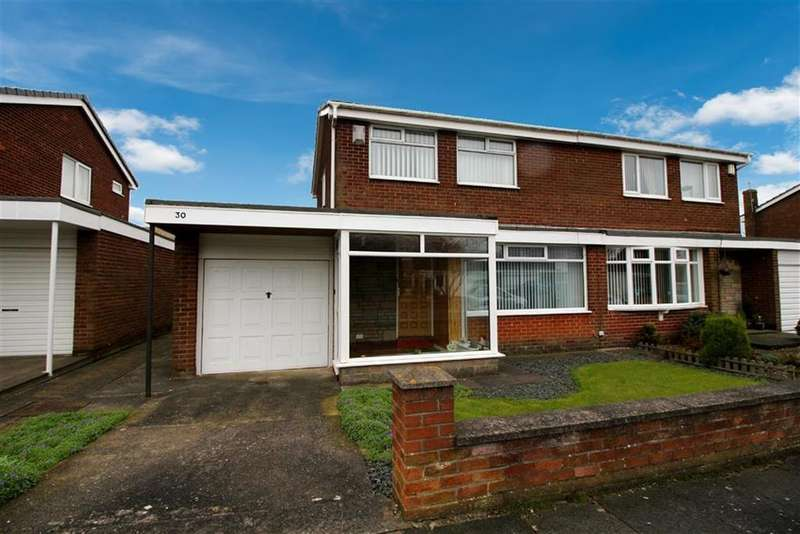 3 Bedrooms Semi Detached House for sale in Selkirk Way, North Shields
