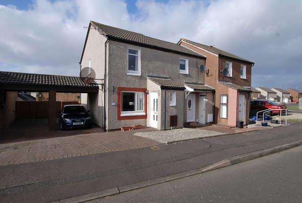 2 Bedrooms End Of Terrace House for sale in 6 Roughlea Place, Troon, KA10 7JJ