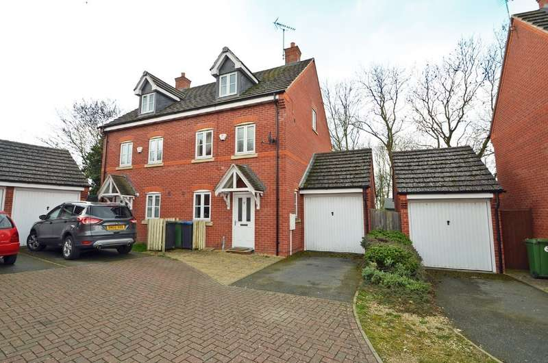 3 Bedrooms Town House for sale in Woodleigh Road, Long Lawford, Rugby