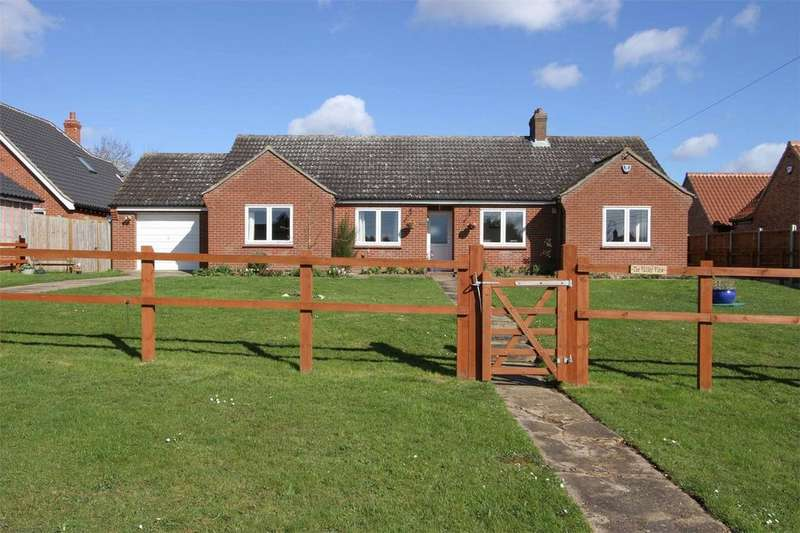 4 Bedrooms Detached Bungalow for sale in Station road, Flordon, Flordon, Norfolk