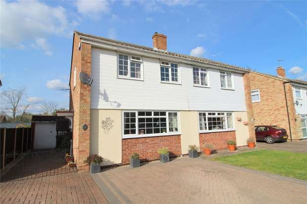 3 Bedrooms Semi Detached House for sale in Catherine Drive, Sunbury-on-Thames, Surrey