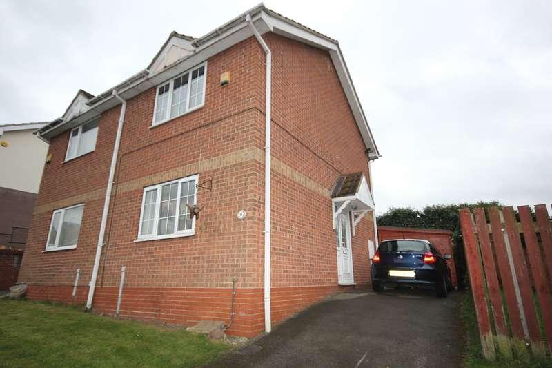 2 Bedrooms Semi Detached House for sale in Herriot Grove, Bircotes, DN11