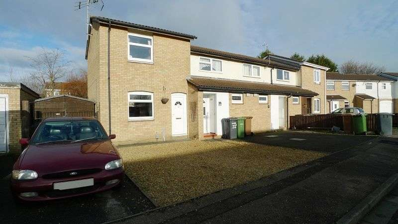 2 Bedrooms End Of Terrace House for sale in Lombardy Drive, Peterborough, Cambridgeshire. PE1 3TF