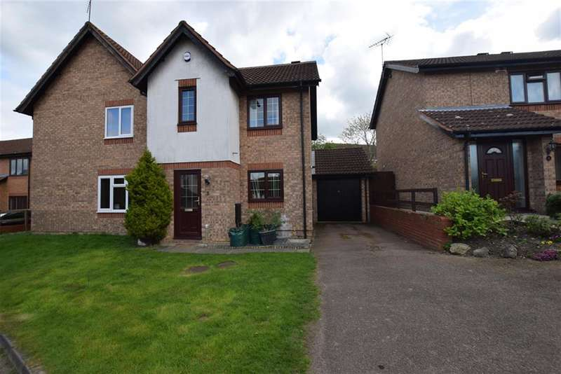 3 Bedrooms Semi Detached House for sale in Oaktree Close, Hamilton, Leicester, LE5 1TR