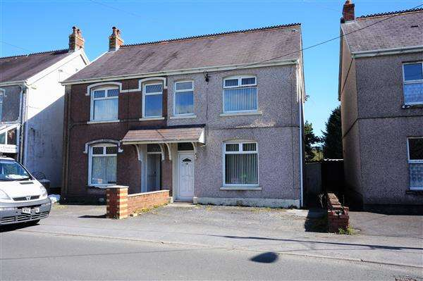 3 Bedrooms Semi Detached House for sale in Carmarthen Road, CROSS HANDS, Llanelli