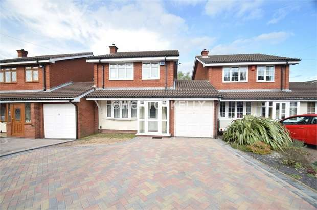 3 Bedrooms Detached House for sale in Whitworth Drive, WEST BROMWICH, West Midlands