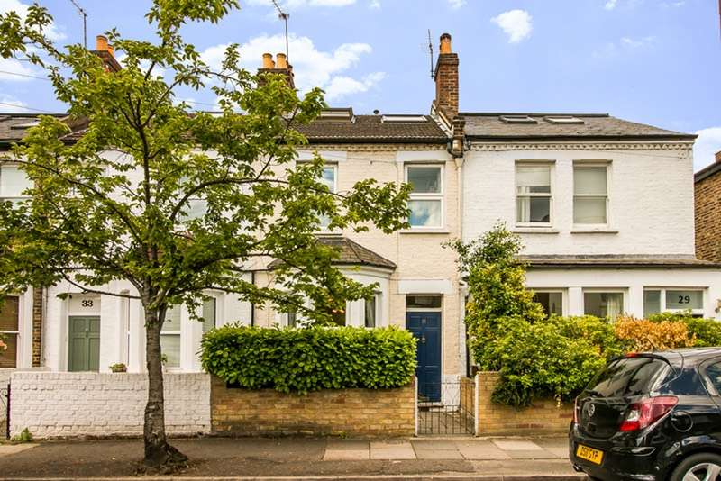 4 Bedrooms Terraced House for sale in Palmerston Road, London, London, SW19