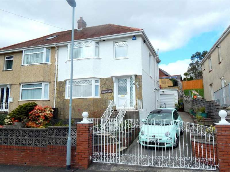 3 Bedrooms Semi Detached House for sale in Brynawel Crescent, Treboeth, Swansea