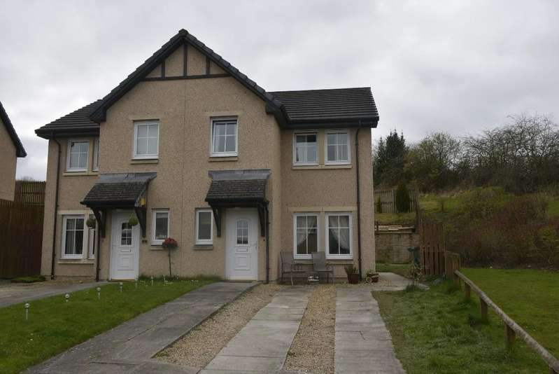 3 Bedrooms Semi-detached Villa House for sale in McAulay Brae, Plean, Stirling, FK7 8FE