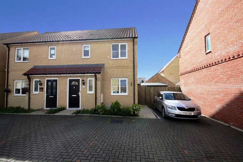 3 Bedrooms Semi Detached House for sale in Malkin Close, Ipswich