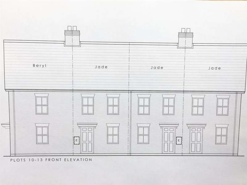 2 Bedrooms Terraced House for sale in The Jade (Plot 12), Wallaces Yard, Alford