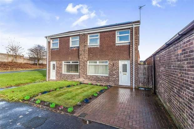 3 Bedrooms Semi Detached House for sale in Bamborough Court, Dudley, Cramlington, Tyne and Wear