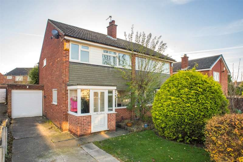 3 Bedrooms Semi Detached House for sale in Sunningdale Avenue, Alwoodley, Leeds, LS17