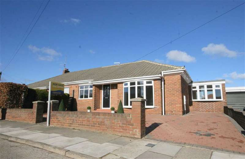 2 Bedrooms Semi Detached Bungalow for sale in Solway Avenue, Marden Estate, Tyne And Wear, NE30