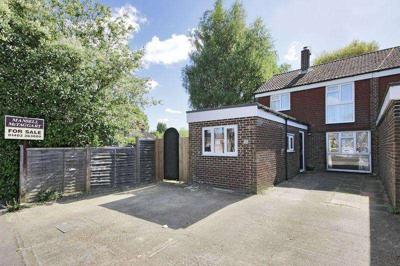 3 Bedrooms End Of Terrace House for sale in Corsletts Avenue, Broadbridge Heath