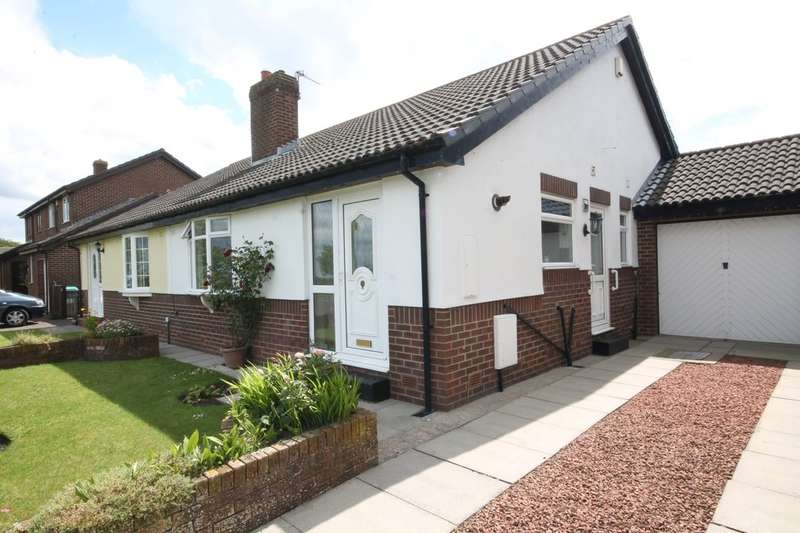 2 Bedrooms Semi Detached Bungalow for sale in The Sycamores, Burnopfield, Newcastle Upon Tyne, NE16