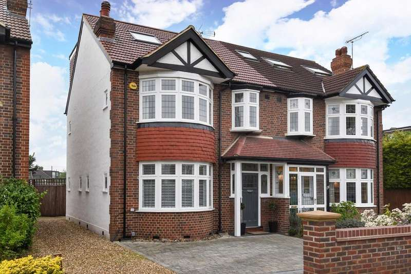 4 Bedrooms Semi Detached House for sale in Grand Drive, Raynes Park, SW20