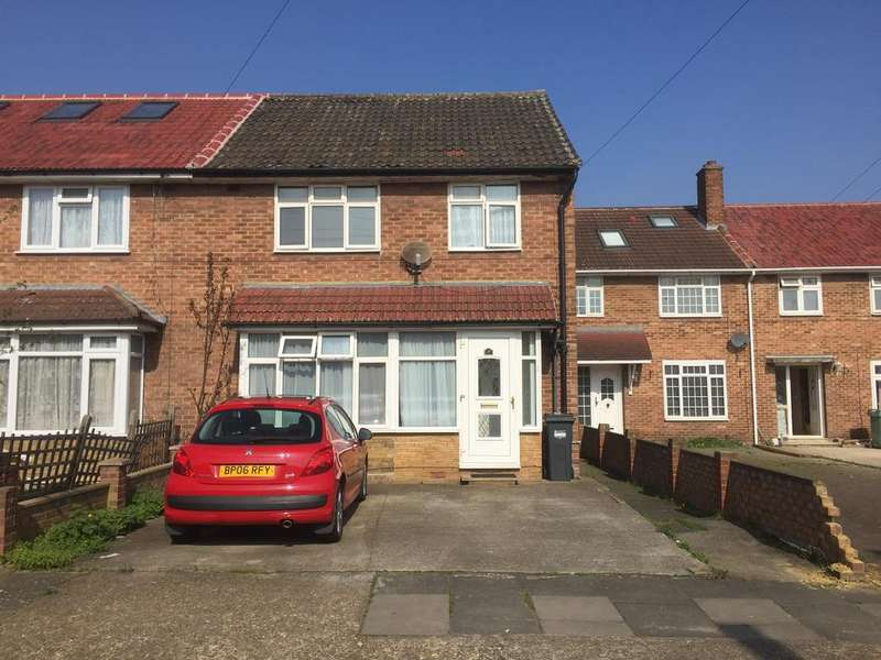 4 Bedrooms End Of Terrace House for sale in Newlands Close, Southall, Middx UB2