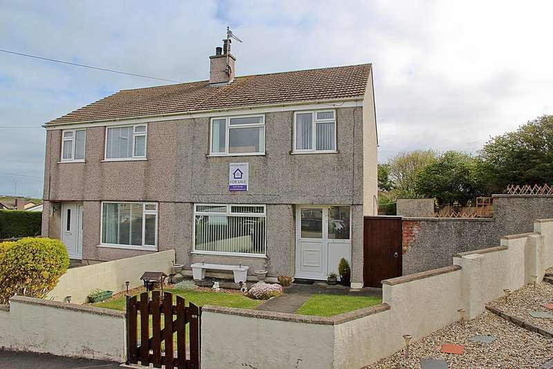 3 Bedrooms Semi Detached House for sale in Lon Newydd, Holyhead, North Wales