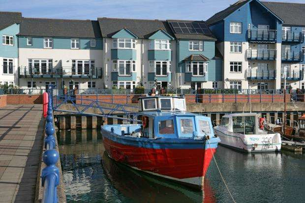 4 Bedrooms Terraced House for sale in Cutters Wharf, Shelly Road, Exmouth, Devon