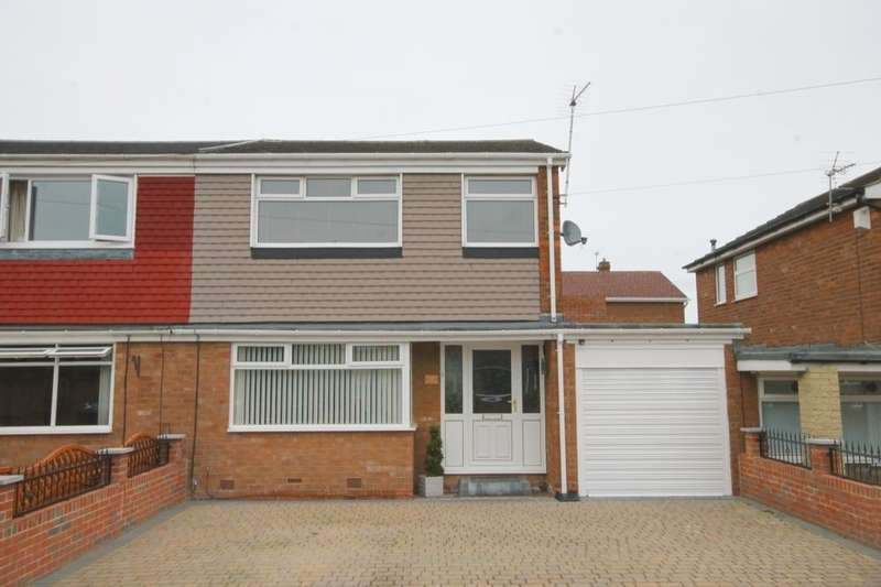 3 Bedrooms Semi Detached House for sale in Flexbury Gardens, South West Denton, Newcastle Upon Tyne, NE15