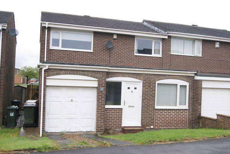 3 Bedrooms Semi Detached House for sale in Glencoe, Killingworth, Newcastle Upon Tyne