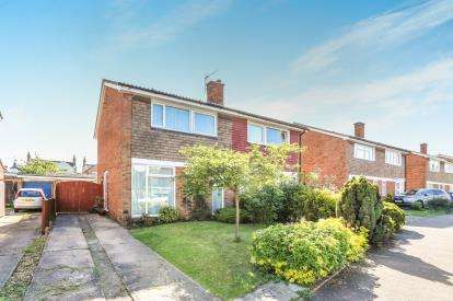 3 Bedrooms Semi Detached House for sale in Newis Crescent, Clifton, Shefford, Bedfordshire