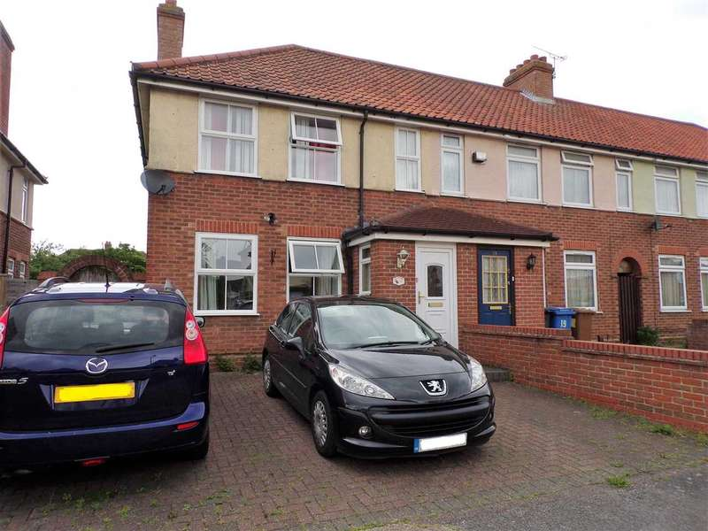 3 Bedrooms End Of Terrace House for sale in Thackeray Road, Ipswich