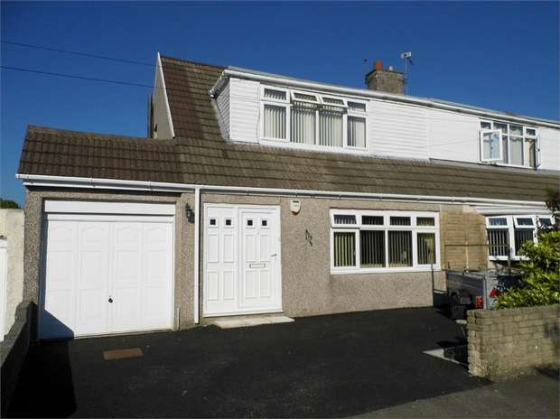 3 Bedrooms Semi Detached Bungalow for sale in 15 Maes Glas, Cefn Cribwr, Bridgend, Mid Glamorgan
